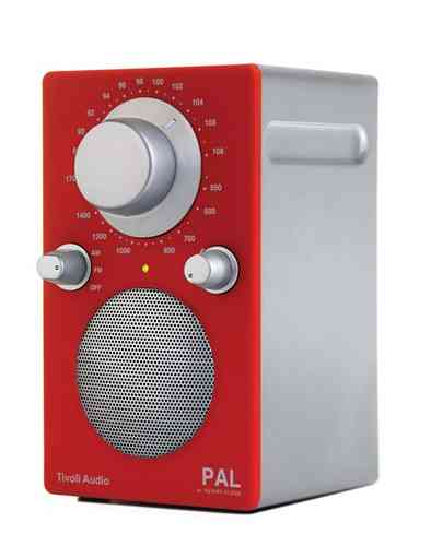 Tivoli Radio PAL Silverline rot